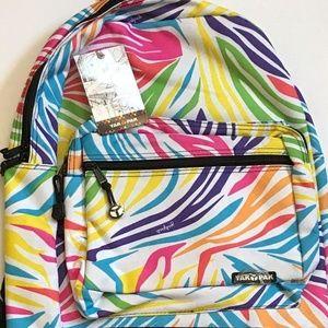 Yak Pak Zebra Design Deluxe Student Backpack